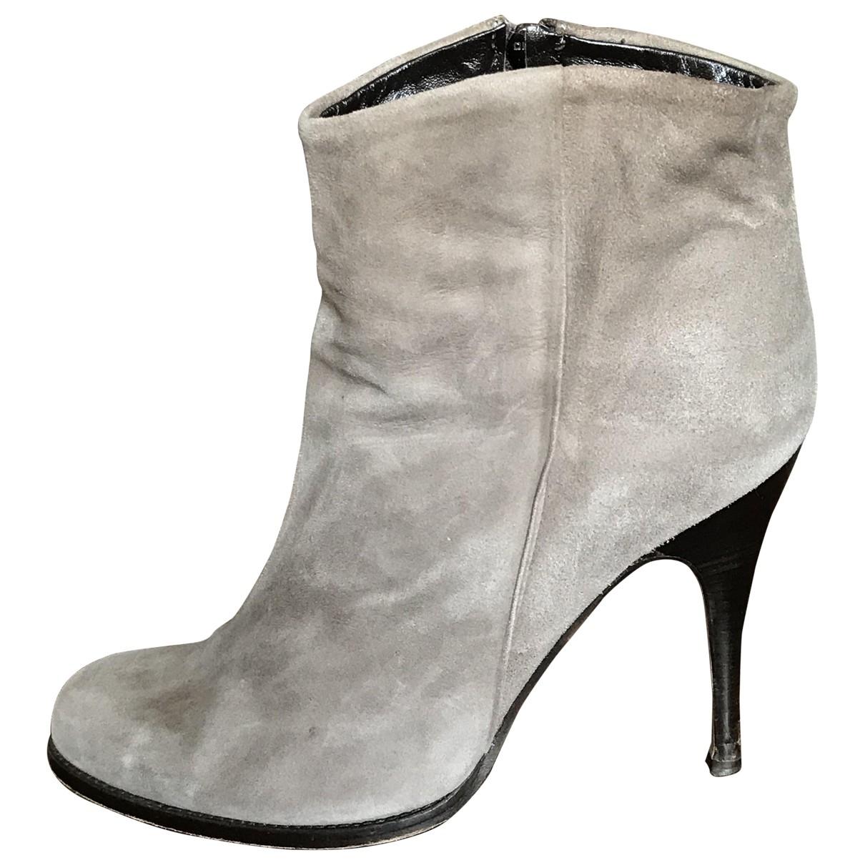 Patrizia Pepe - Escarpins   pour femme en cuir - gris