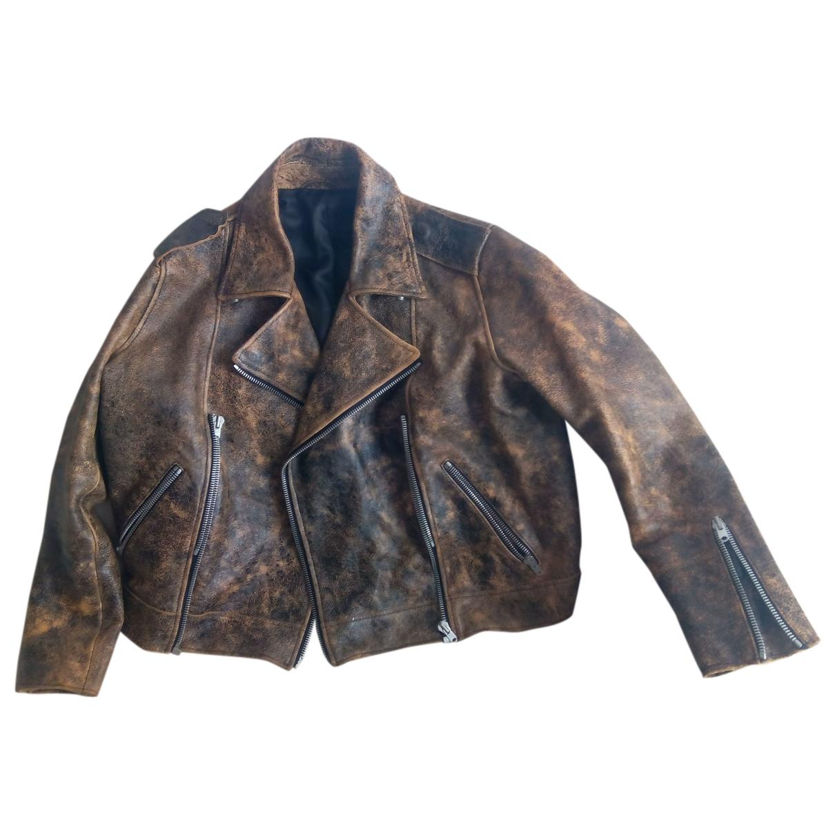 Acne Studios - Veste   pour femme en cuir - marron