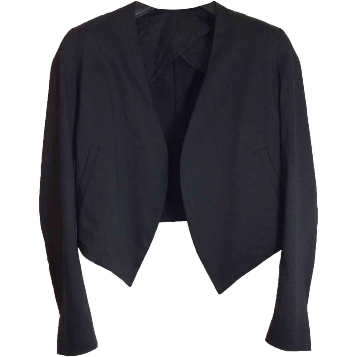 Acne Studios \N Black Cotton jacket for Women 36 FR