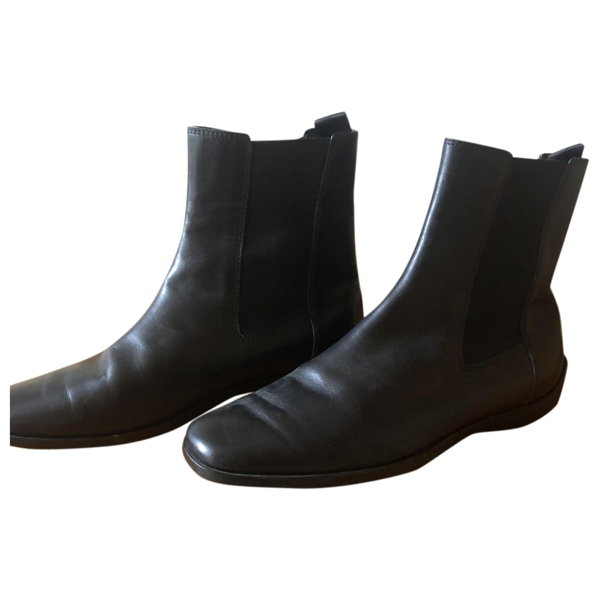 Tod's N Black Leather Ankle boots for Women 36 EU