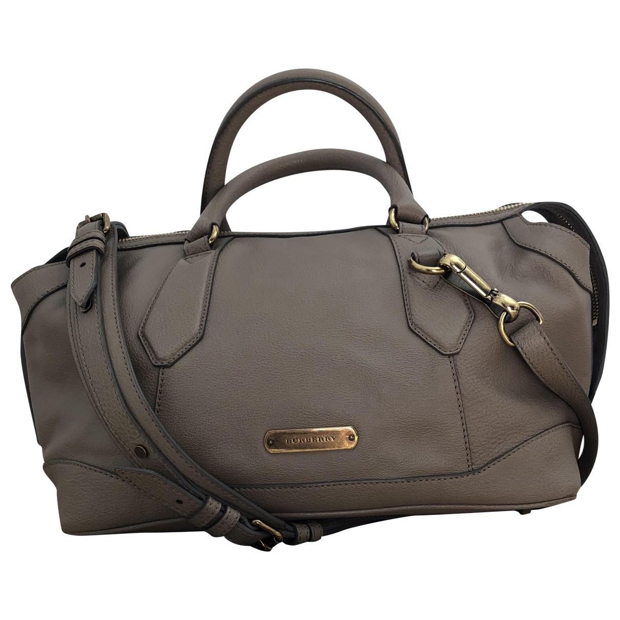 Burberry \N Beige Leather handbag for Women \N