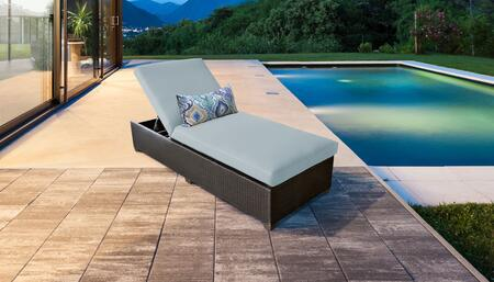 Belle Collection BELLE-1x-SPA Wicker Patio Chaise - Wheat and Spa
