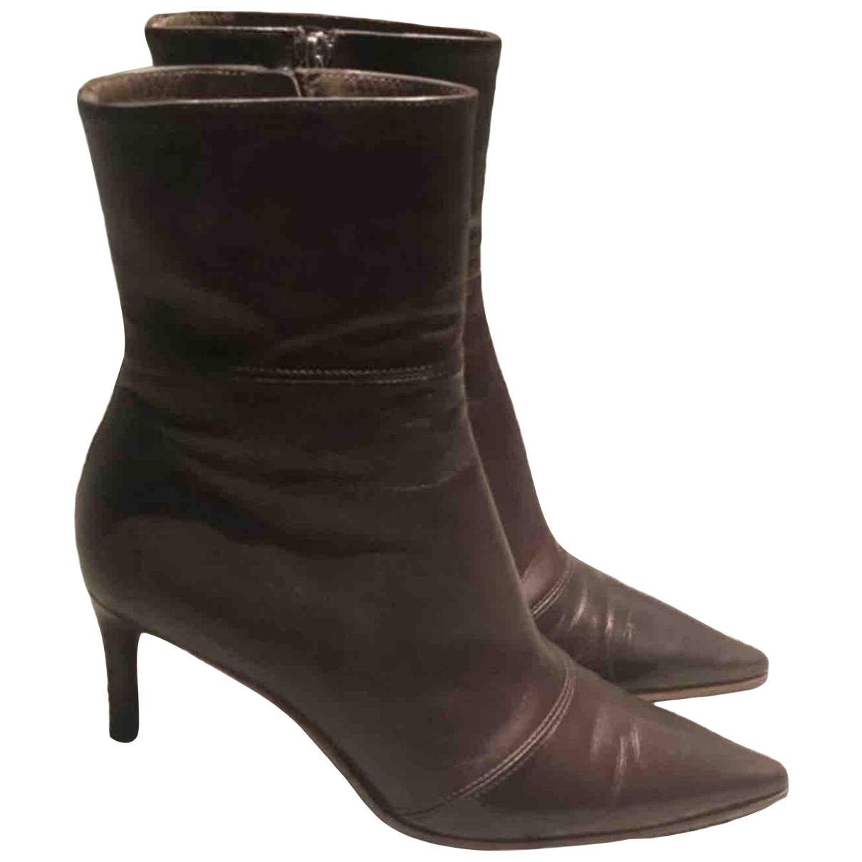 Gucci \N Brown Leather Ankle boots for Women 36 EU