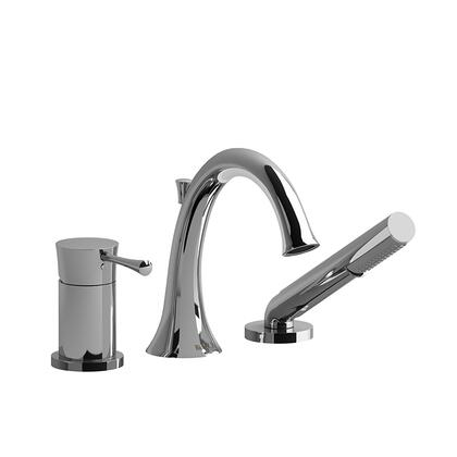 ED10C 3-Piece Pressure Balance Deck Mount Tub Filler with Hand Shower  in