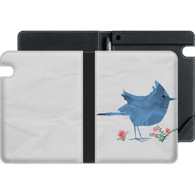 Amazon Kindle Voyage eBook Reader Huelle - Watercolour Bird White von caseable Designs