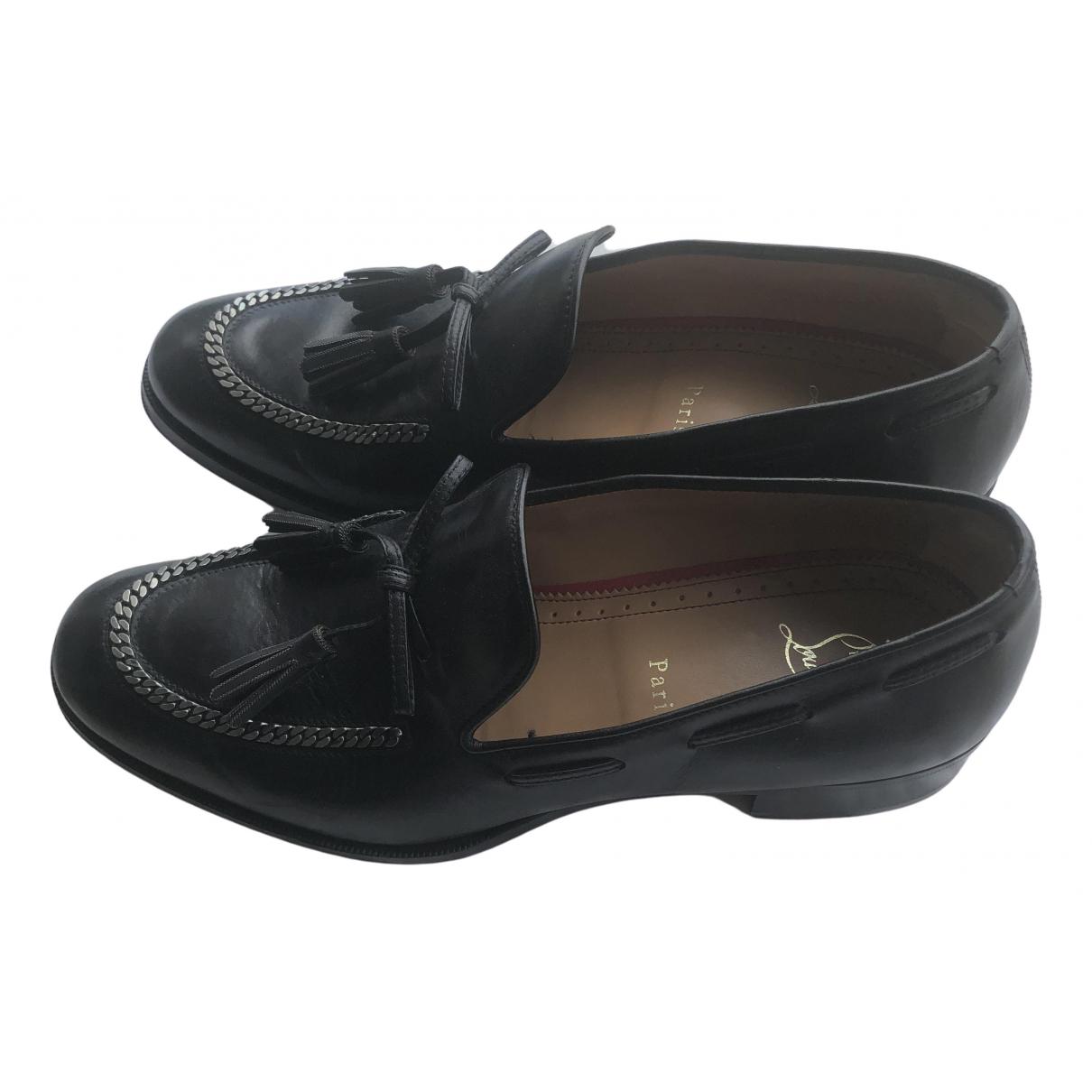 Christian Louboutin \N Black Leather Flats for Men 41.5 EU
