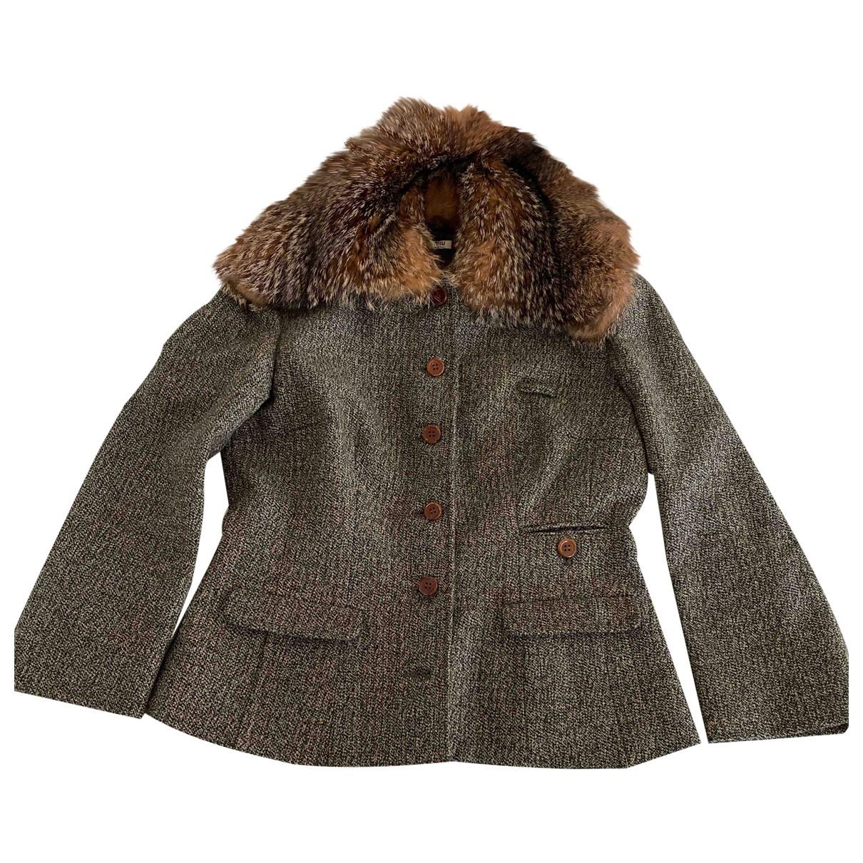 Miu Miu - Veste   pour femme en laine - vert