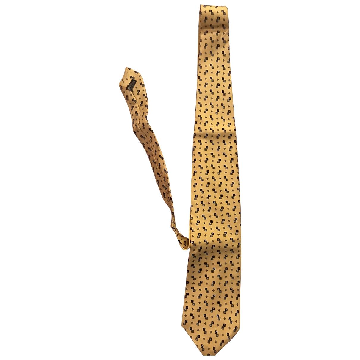 Fendi - Cravates   pour homme en soie - jaune