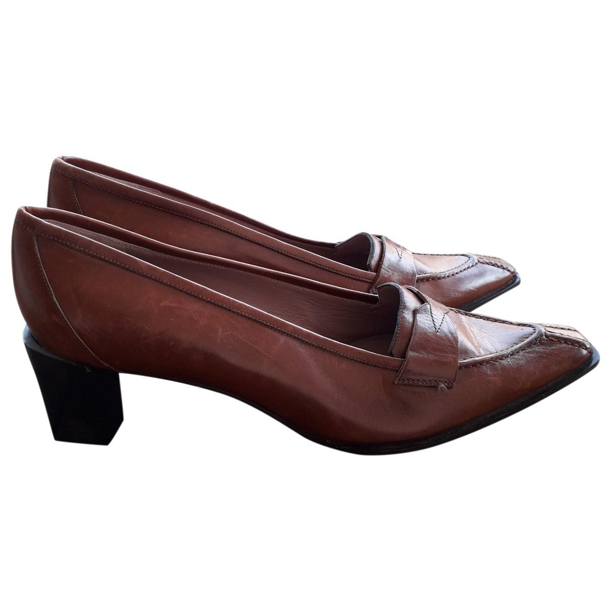 Fratelli Rossetti - Escarpins   pour femme en cuir - marron