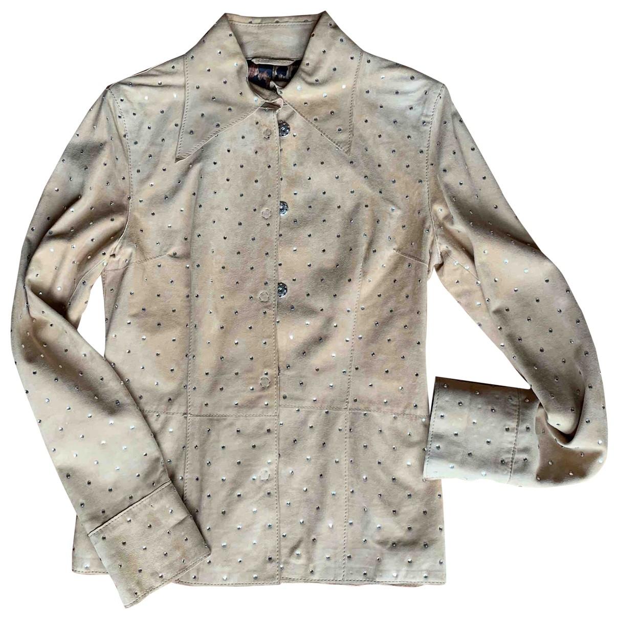 Dolce & Gabbana \N Beige Suede Leather jacket for Women 38 IT
