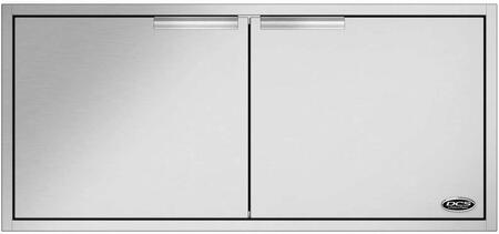 ADN120X48 48 Built-in Access Doors with Condiment Shelf Built into the Door in Brushed Stainless
