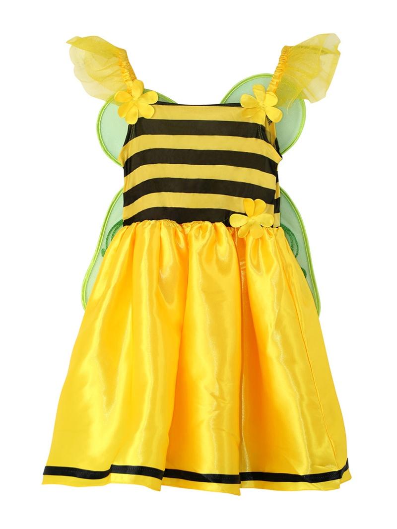Ericdress Halloween Butterfly Fairy Cosplay Stripe Patchwork Part Dress Girls Costume
