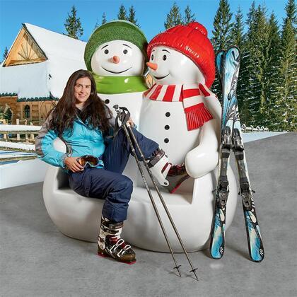 NE160250 Powder Pals Holiday Snowman Bench