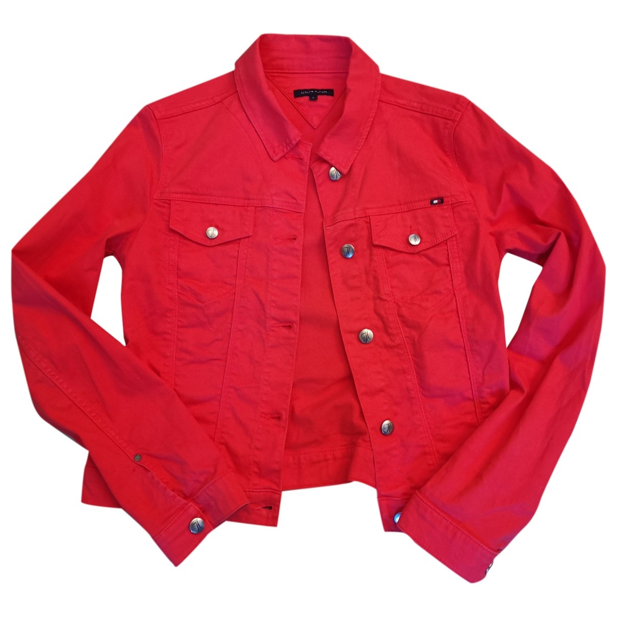Tommy Hilfiger - Veste   pour femme en coton - rouge
