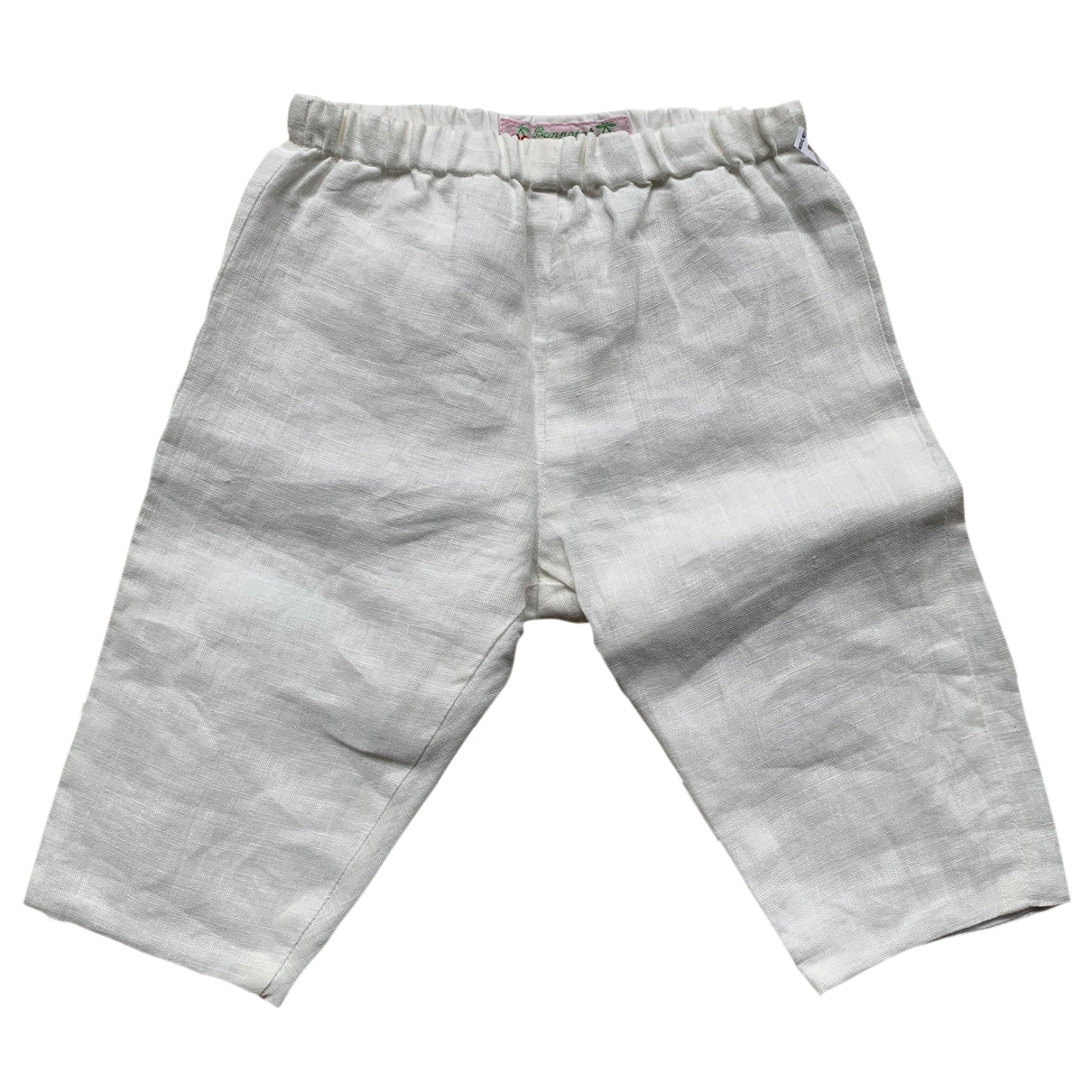 Bonpoint \N White Linen Trousers for Kids 6 months - up to 67cm FR