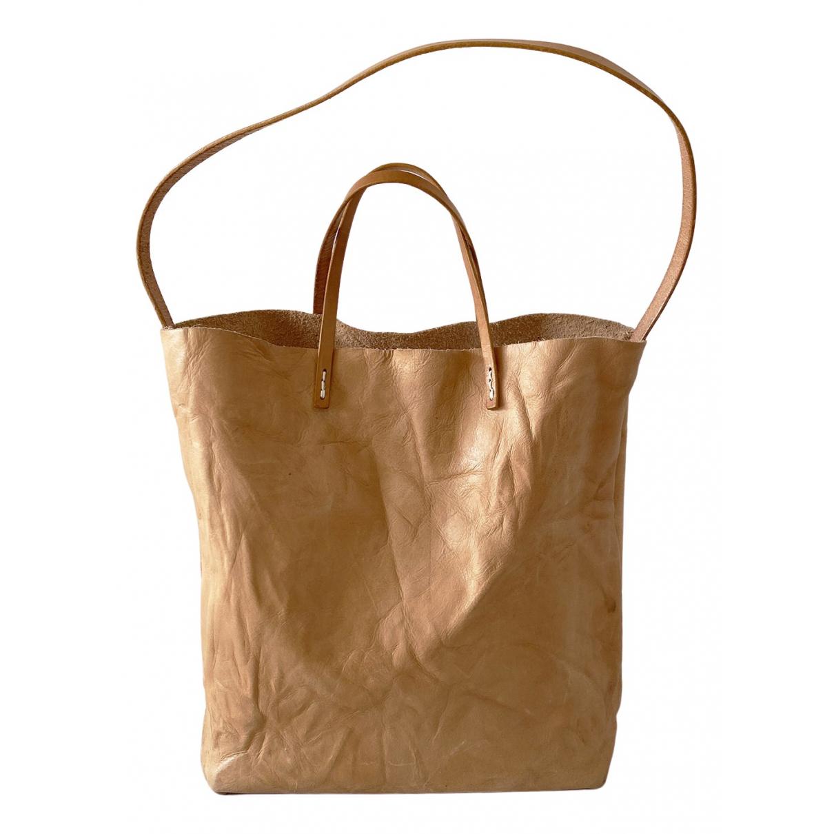 Non Signe / Unsigned \N Handtasche in  Kamel Leder