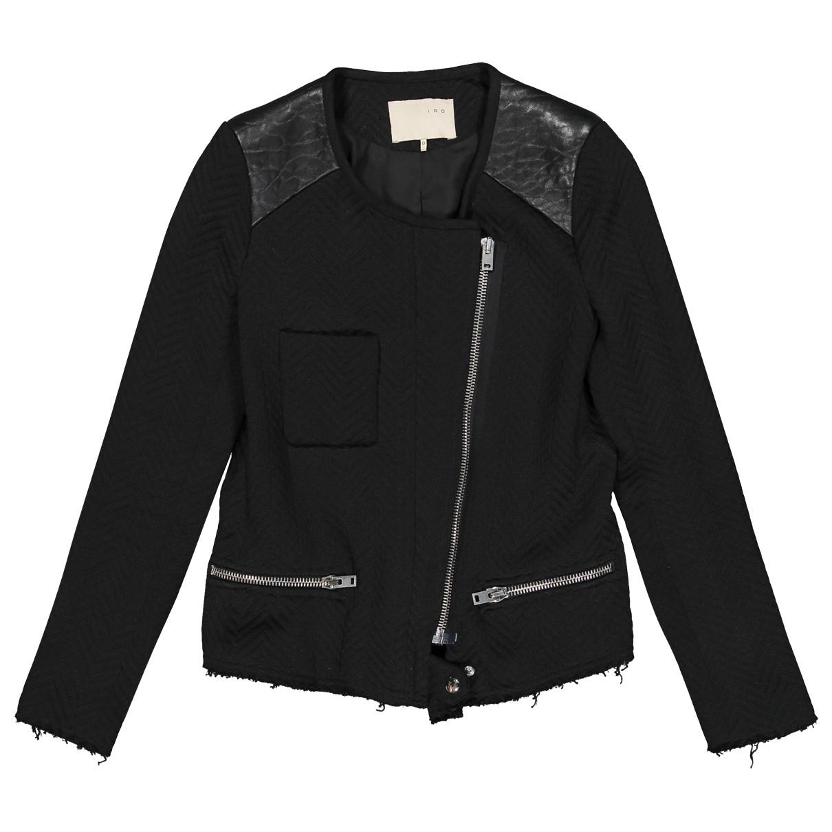 Iro \N Black Cotton jacket for Women 0 0-5