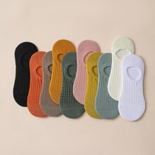 10 Paare solide unsichtbare Socken