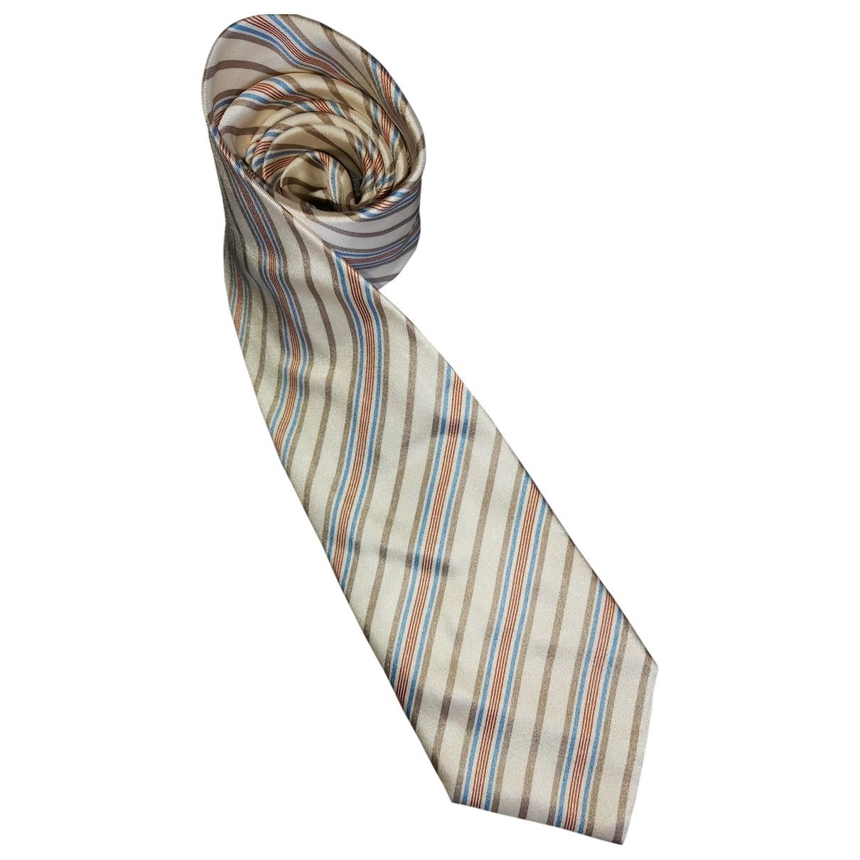 Brioni \N Krawatten in  Ecru Seide