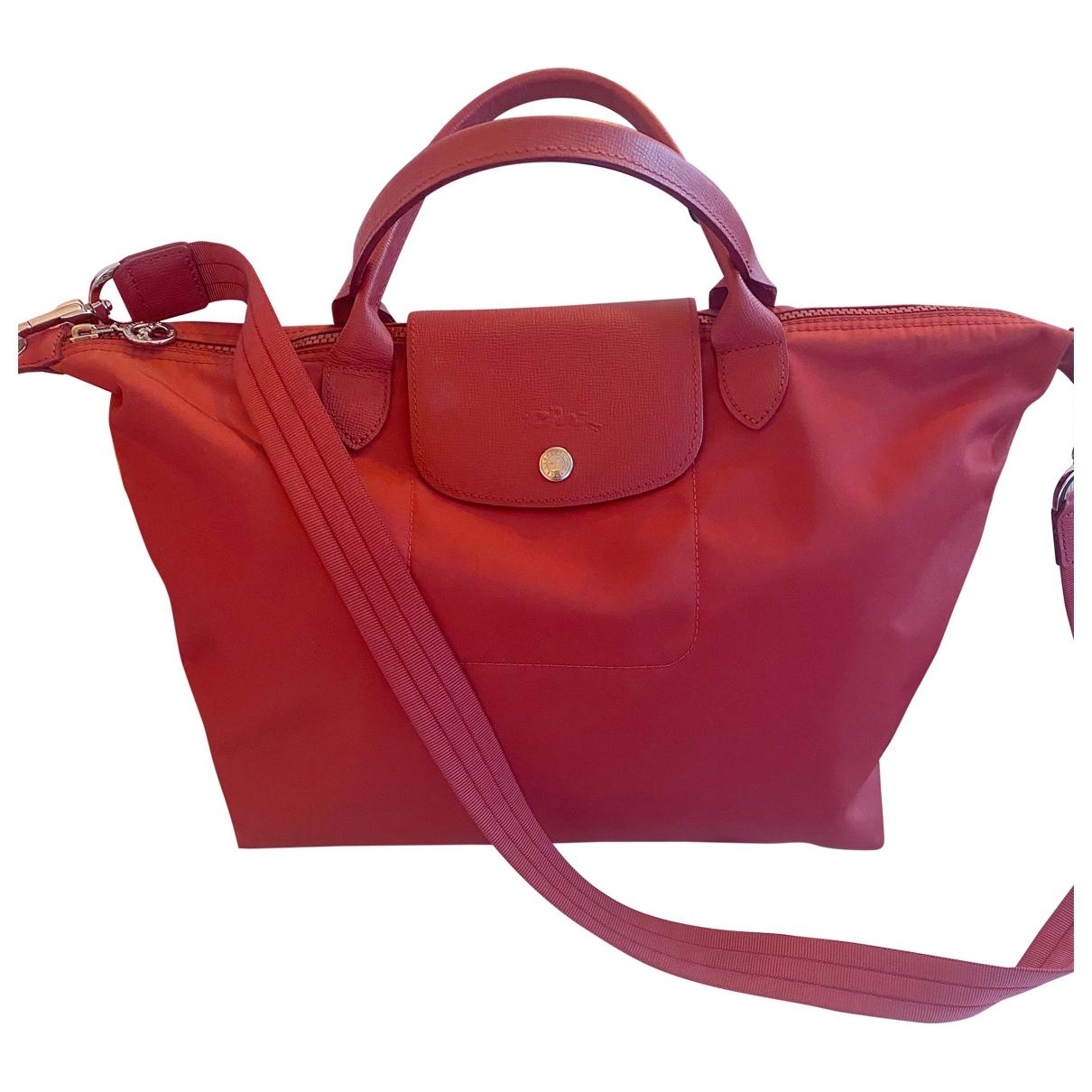 Longchamp Pliage  Red handbag for Women \N