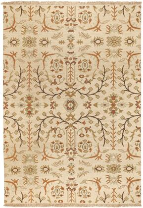 Sonoma SNM-9002 6' x 9' Rectangle Traditional Rugs in Tan  Dark Brown  Burnt Orange  Ivory