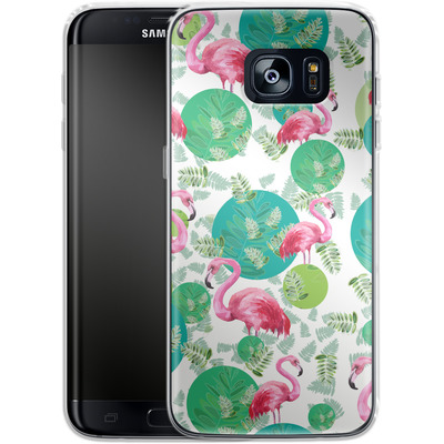 Samsung Galaxy S7 Edge Silikon Handyhuelle - Flamingo Land von Mukta Lata Barua