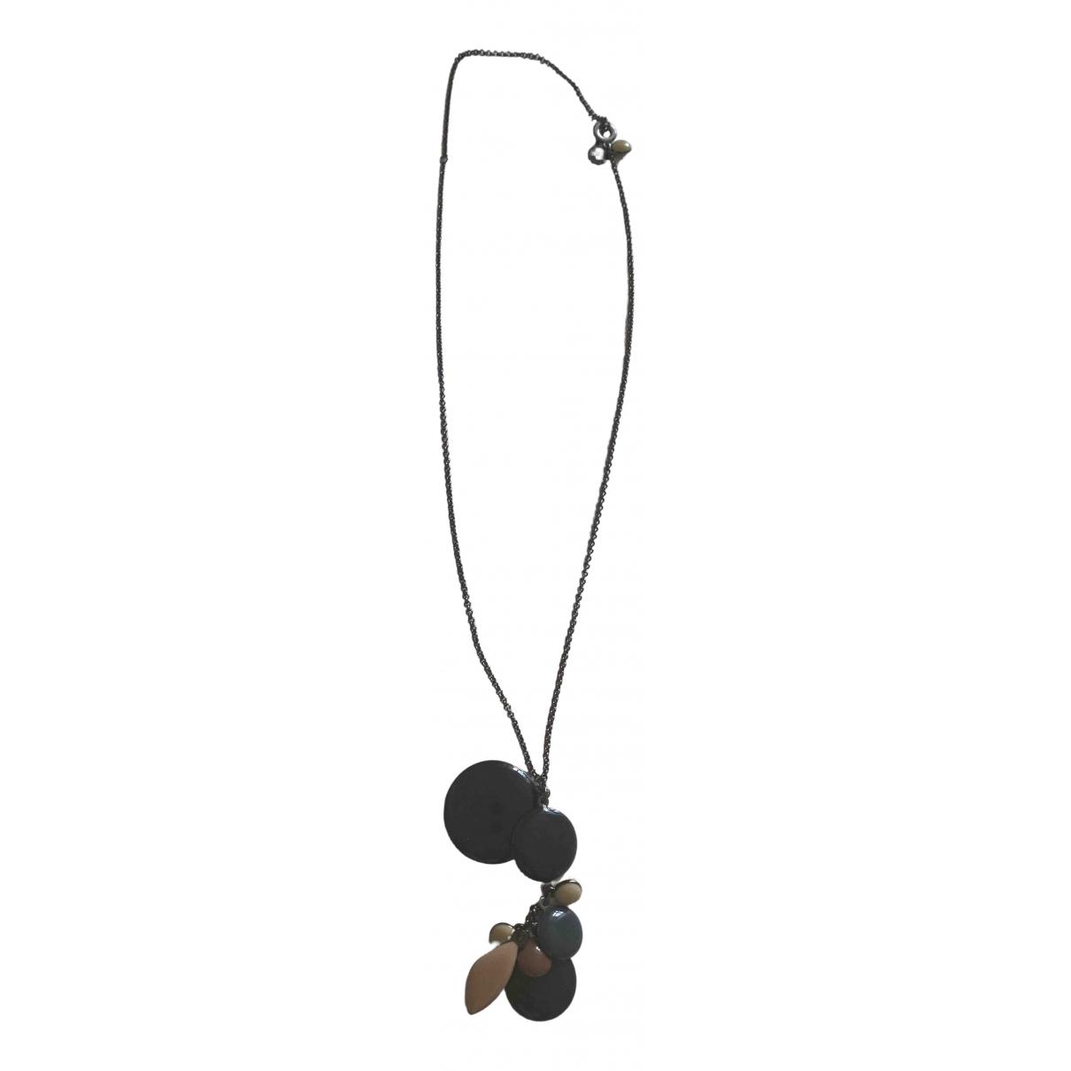 Les Néréides \N Anthracite Metal necklace for Women \N