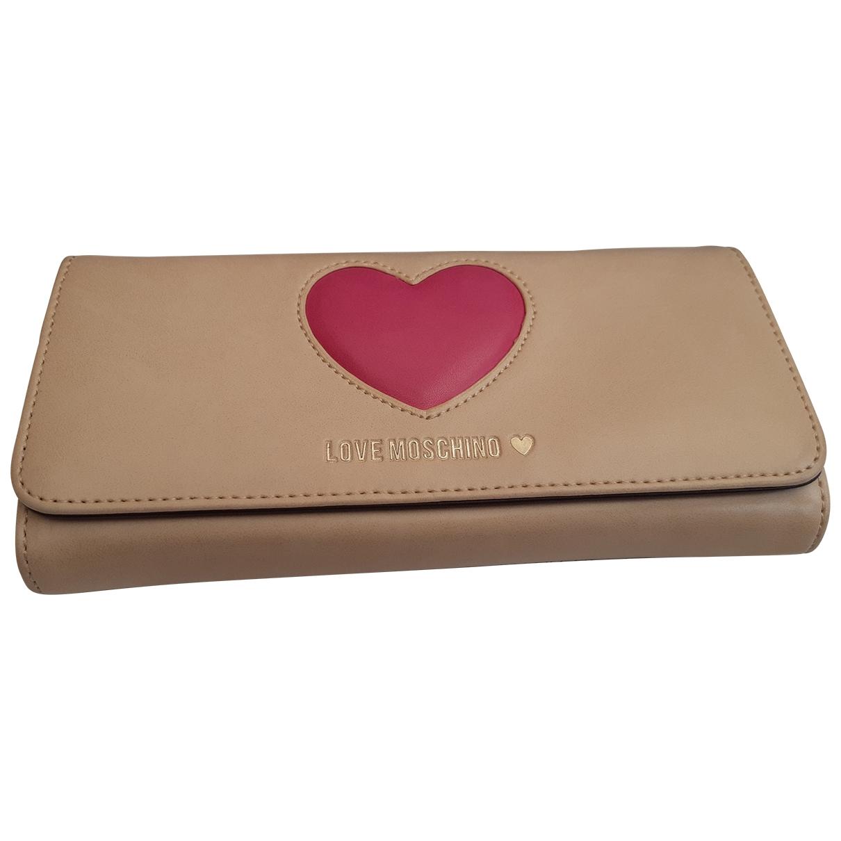 Moschino Love - Portefeuille   pour femme en cuir - ecru