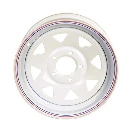 Redneck Trailer 17-142-7 - 14 X5.5 545 White Spoke Wheel 3.19 Pilot