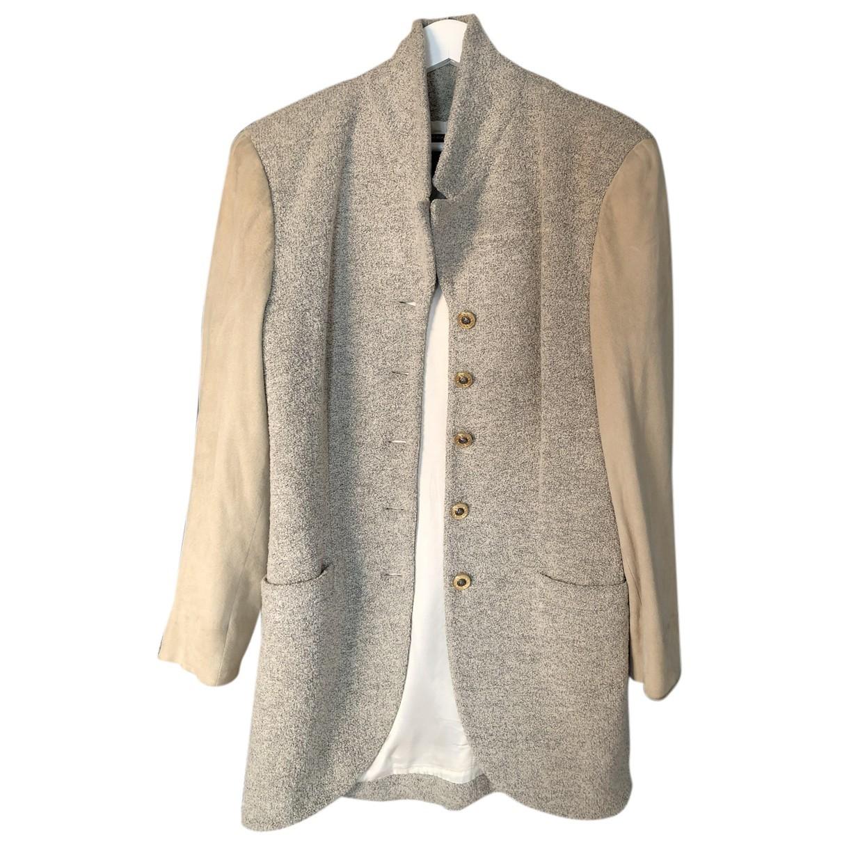 Versace - Veste   pour femme en coton - gris
