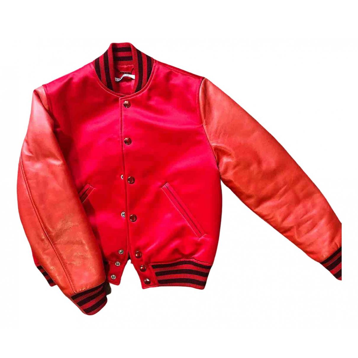 Givenchy \N Lederjacke in  Rot Leder