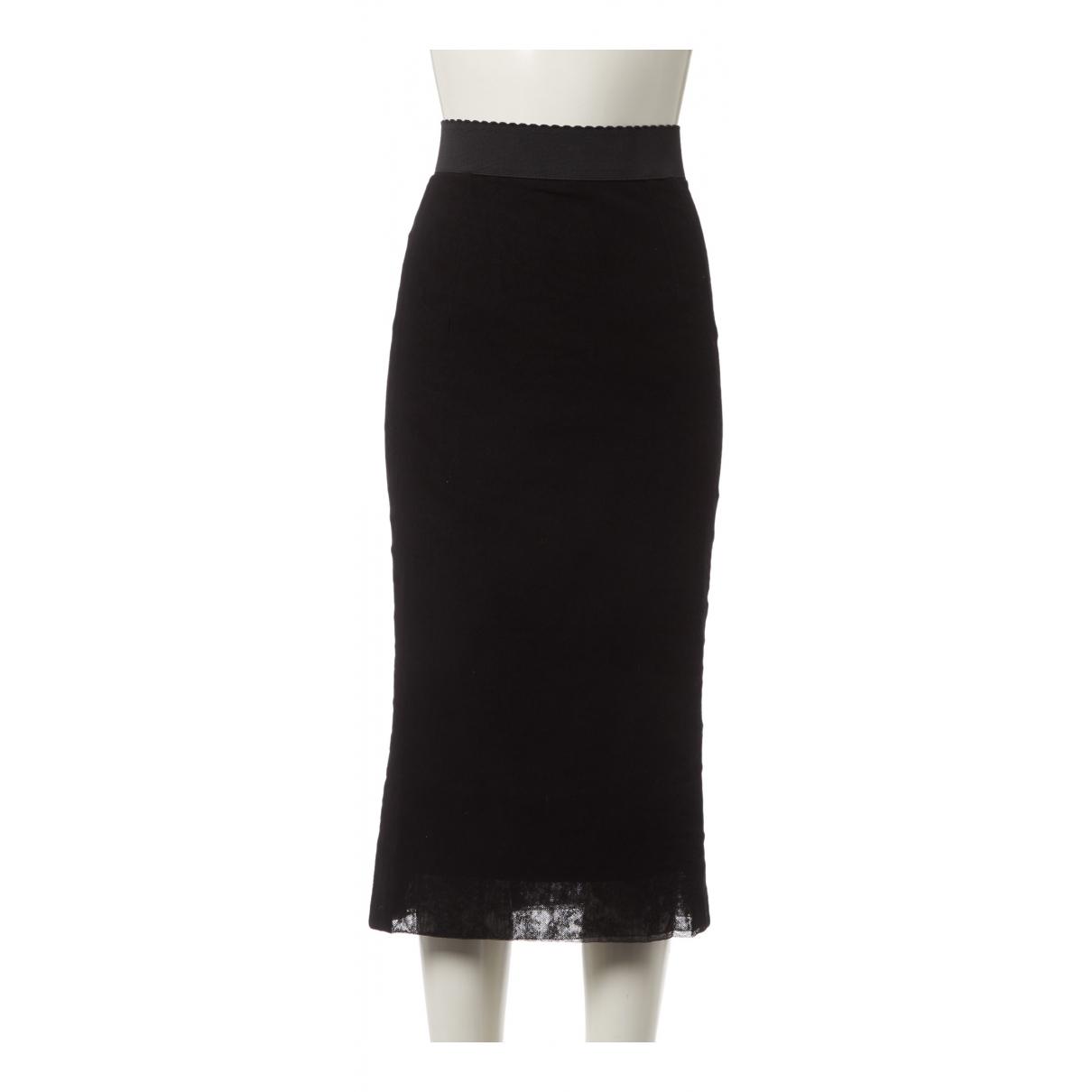 Dolce & Gabbana - Jupe   pour femme en coton - noir