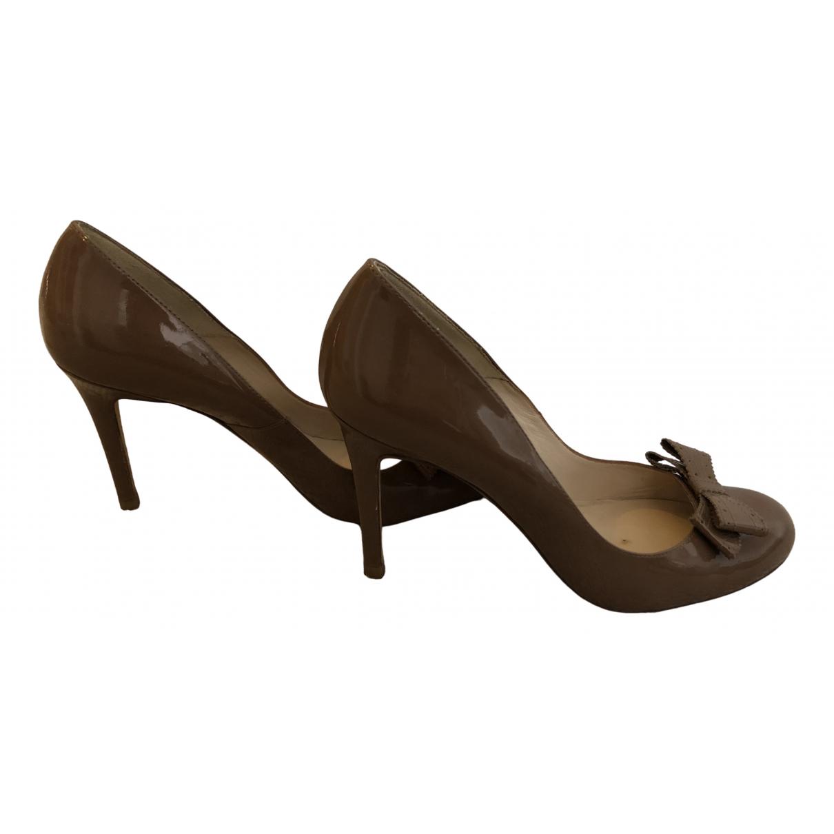 Lk Bennett \N Brown Patent leather Heels for Women 7 UK