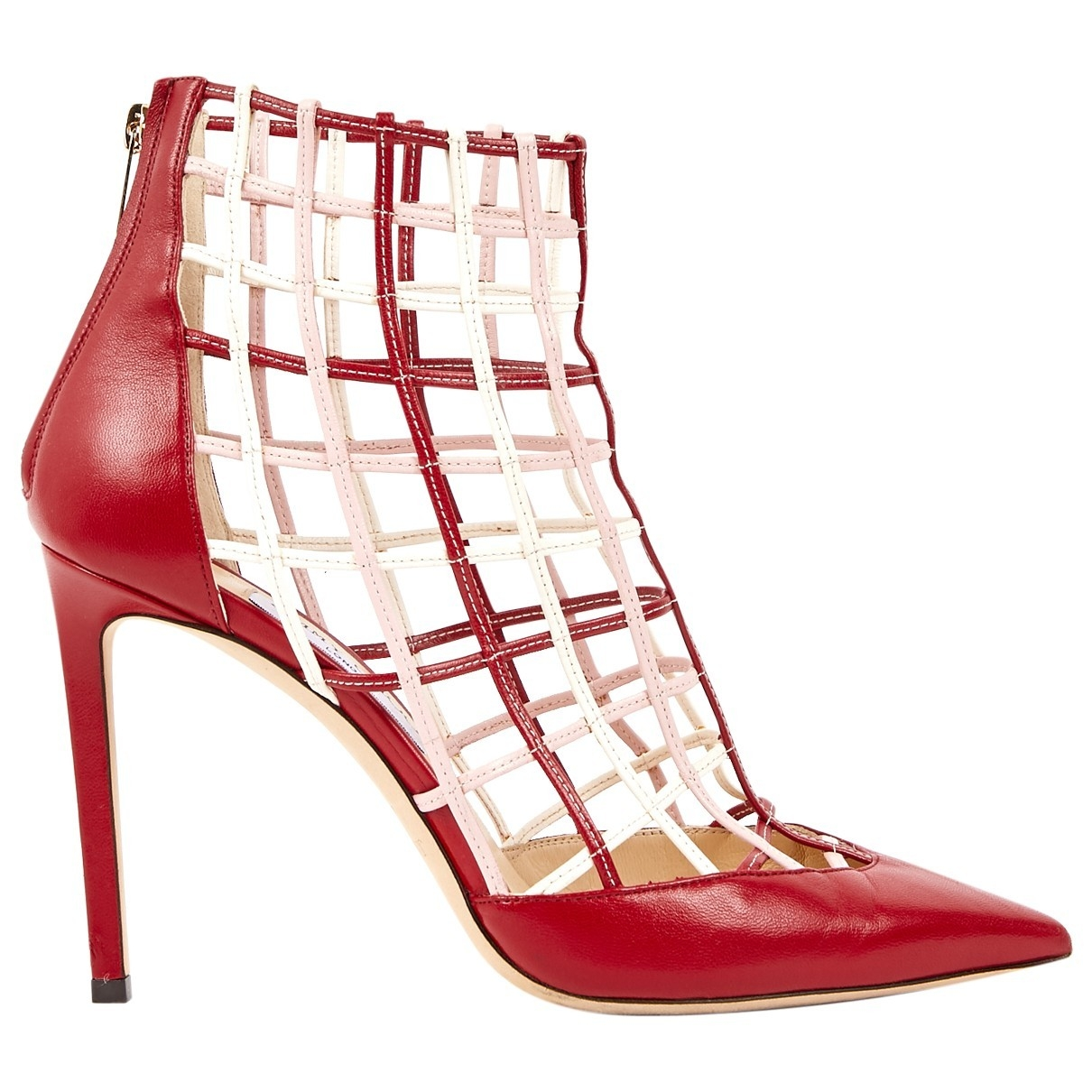 Jimmy Choo \N Red Leather Heels for Women 40.5 EU