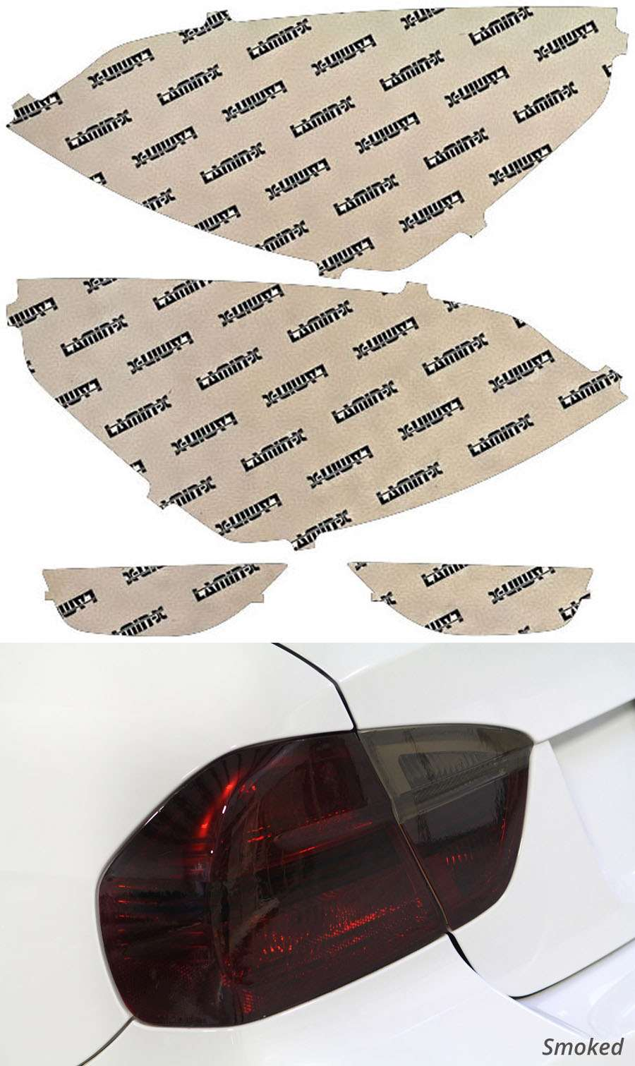 Ford Fiesta Hatchback 14-18 Smoked Tail Light Covers Lamin-X F246S