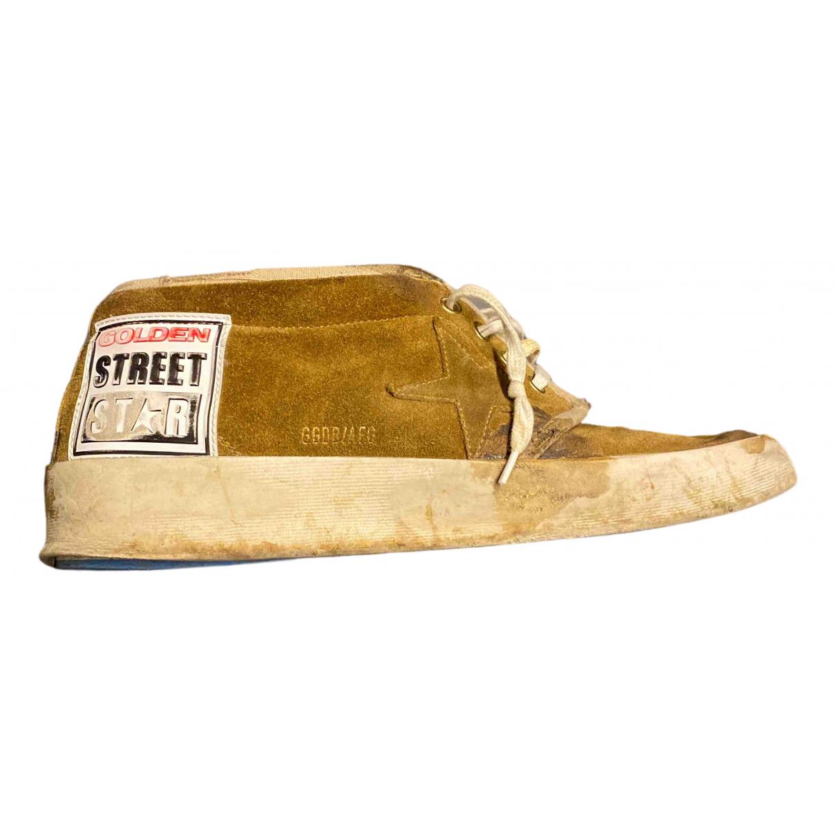 Golden Goose - Bottes.Boots   pour homme en suede - beige