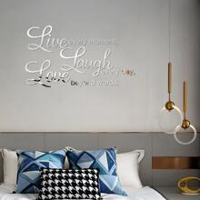 Slogan Graphic Mirror Surface Wall Sticker