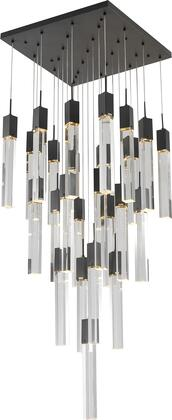 ADS10C25B Chandelier with Metal & Crystal in Matte