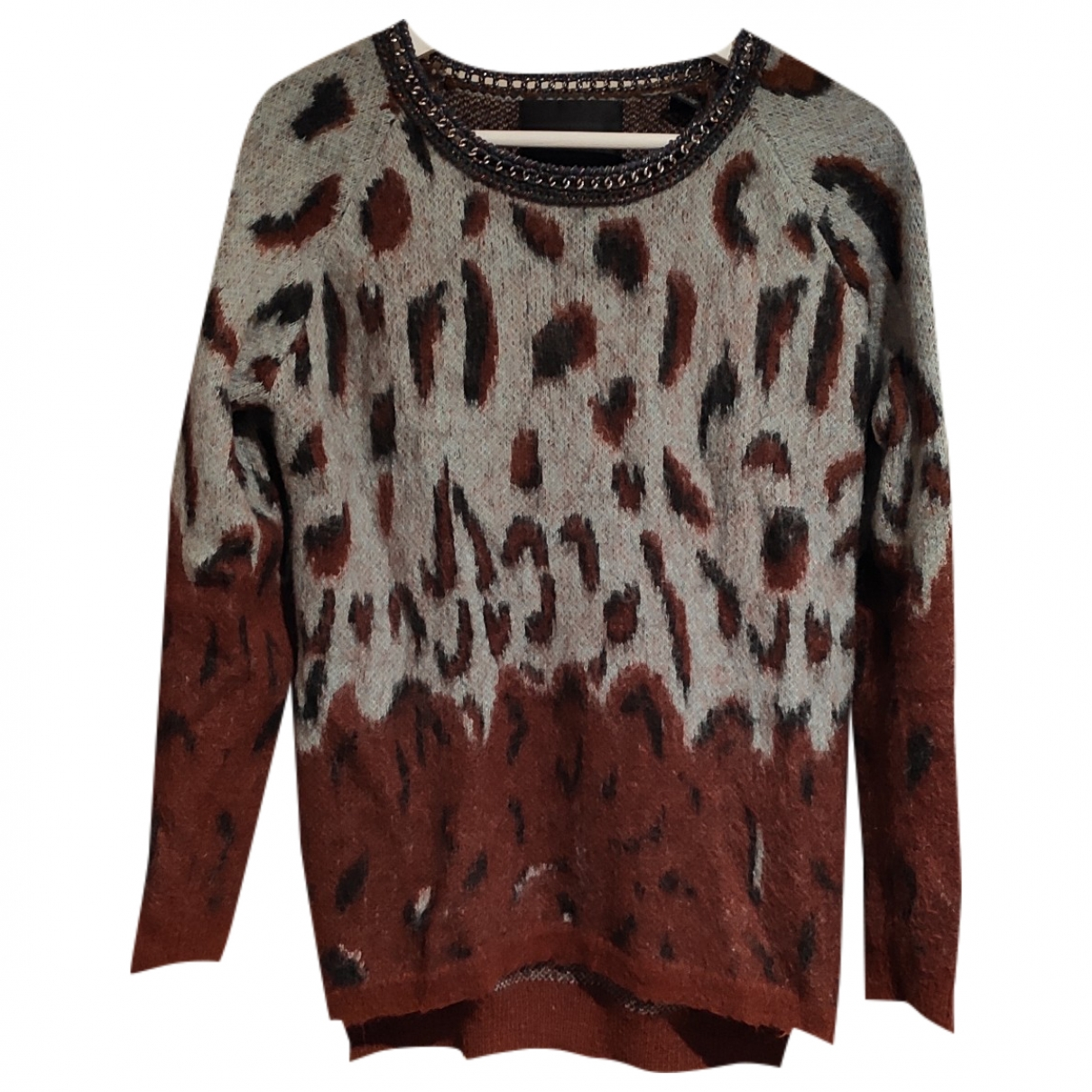 Maison Scotch \N Pullover in  Bordeauxrot Wolle