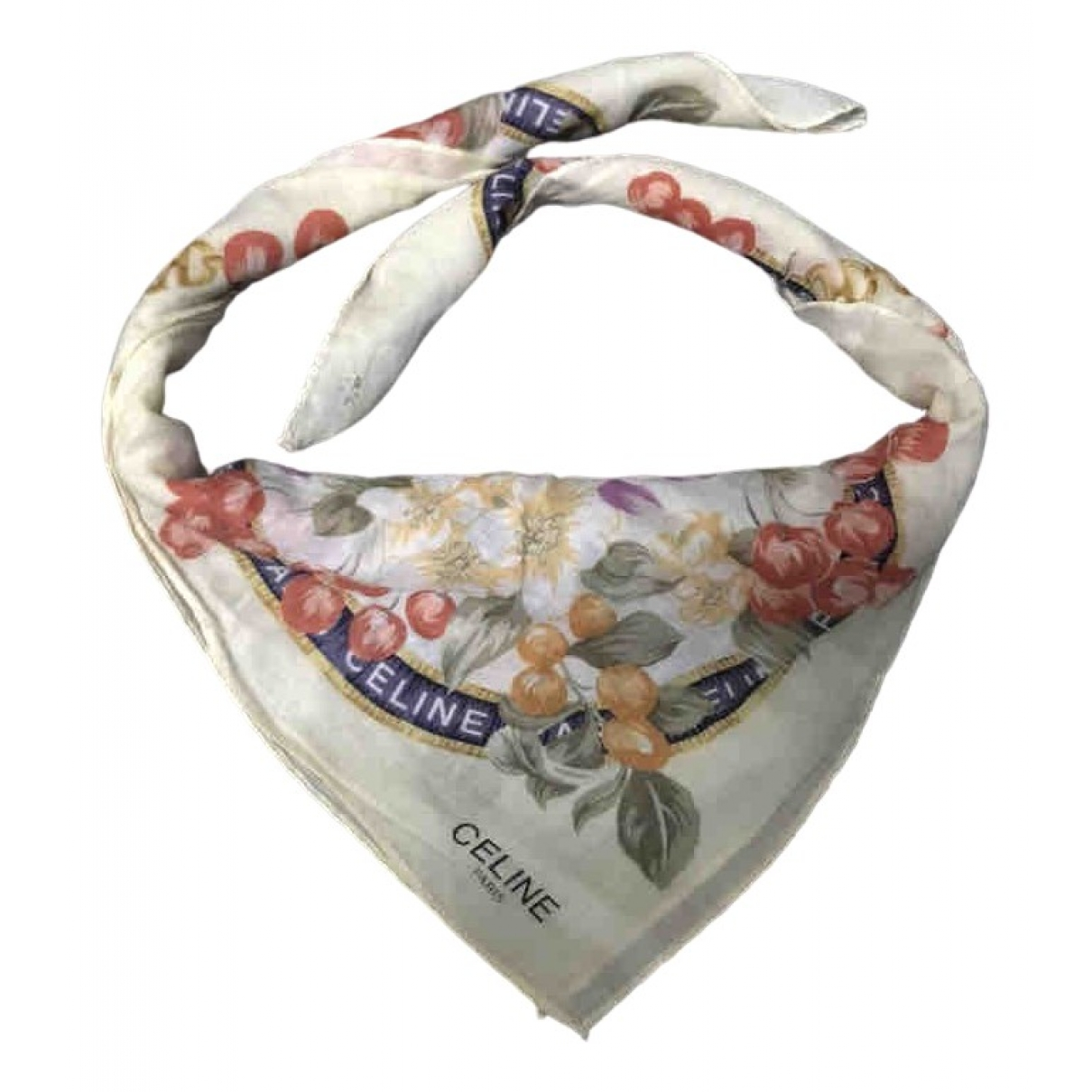 Celine \N White Cotton scarf for Women \N