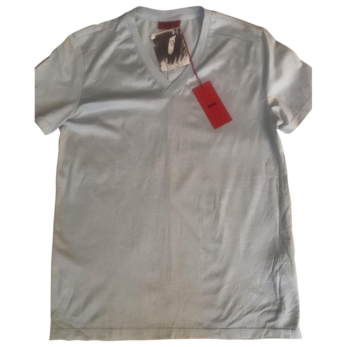 Hugo Boss - Tee shirts   pour homme en coton - bleu