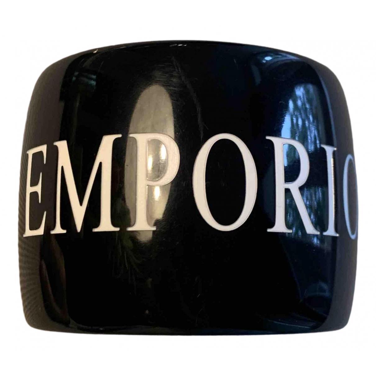 Emporio Armani - Bracelet   pour femme - noir