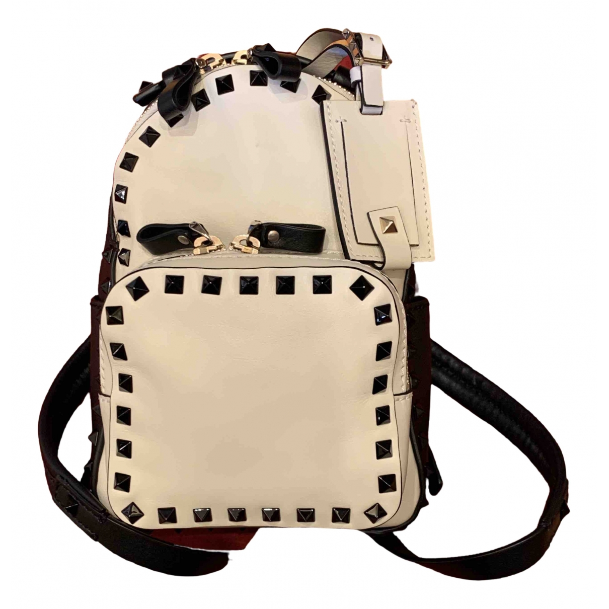 Valentino Garavani Rockstud Black Leather backpack for Women \N