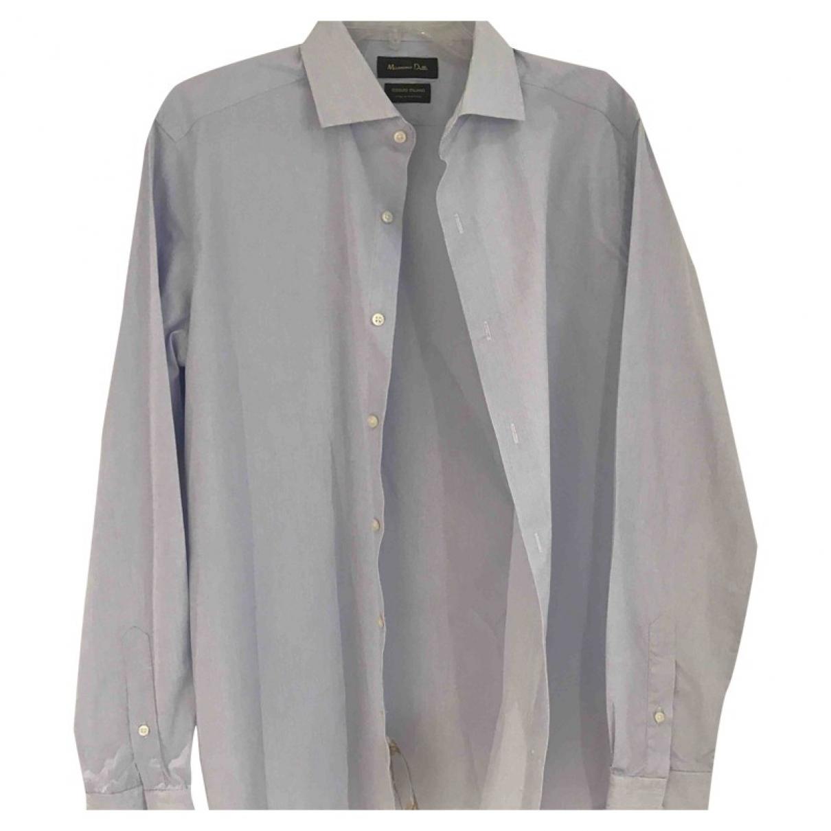 Massimo Dutti - Chemises   pour homme en coton - bleu