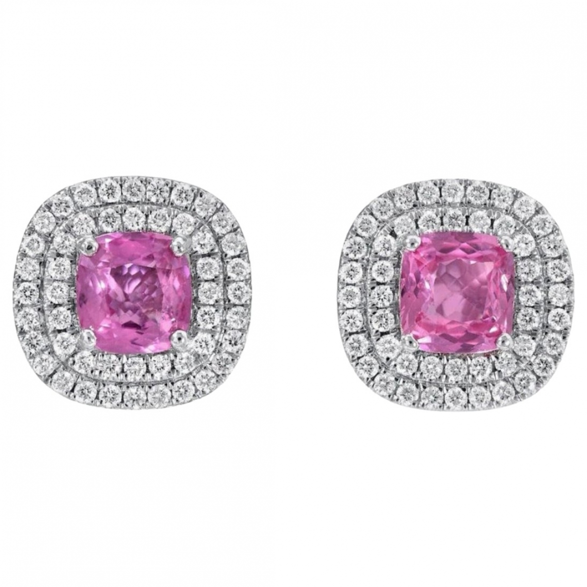 Non Signé / Unsigned \N Pink White gold Earrings for Women \N