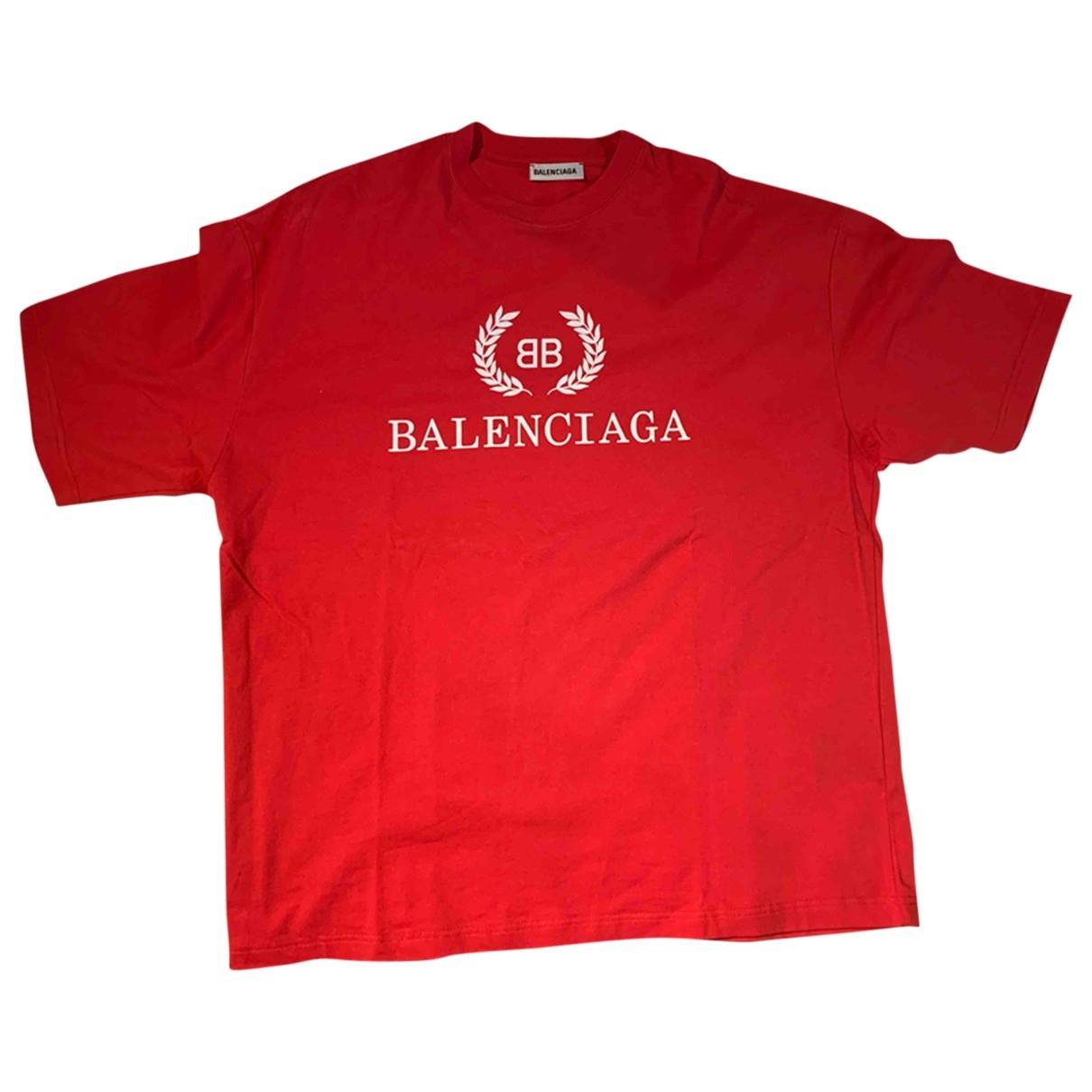 Balenciaga - Tee shirts   pour homme en coton - rose