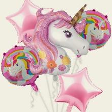 5pcs Unicorn Design Balloon Set