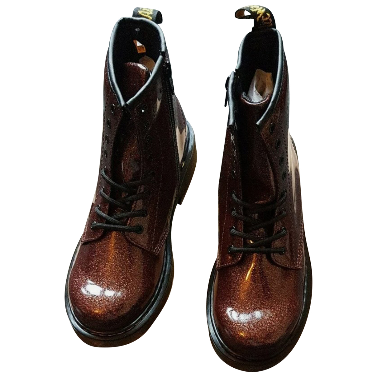 Dr. Martens 1460 Pascal (8 eye) Brown Leather Boots for Women 3 UK