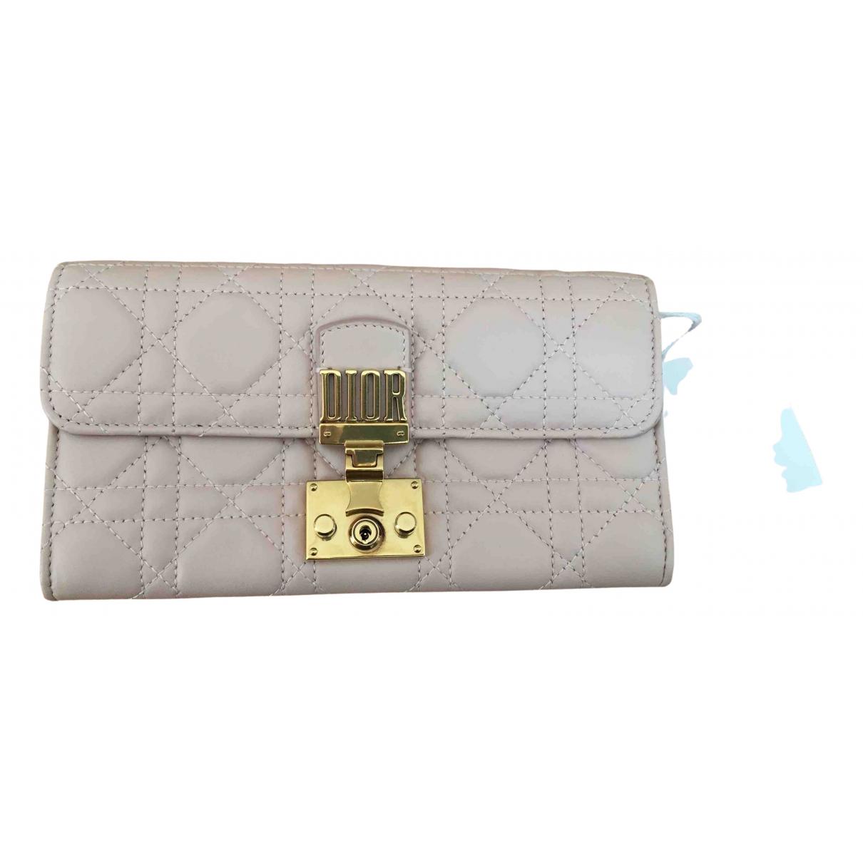 Dior DiorAddict Portemonnaie in  Rosa Leder