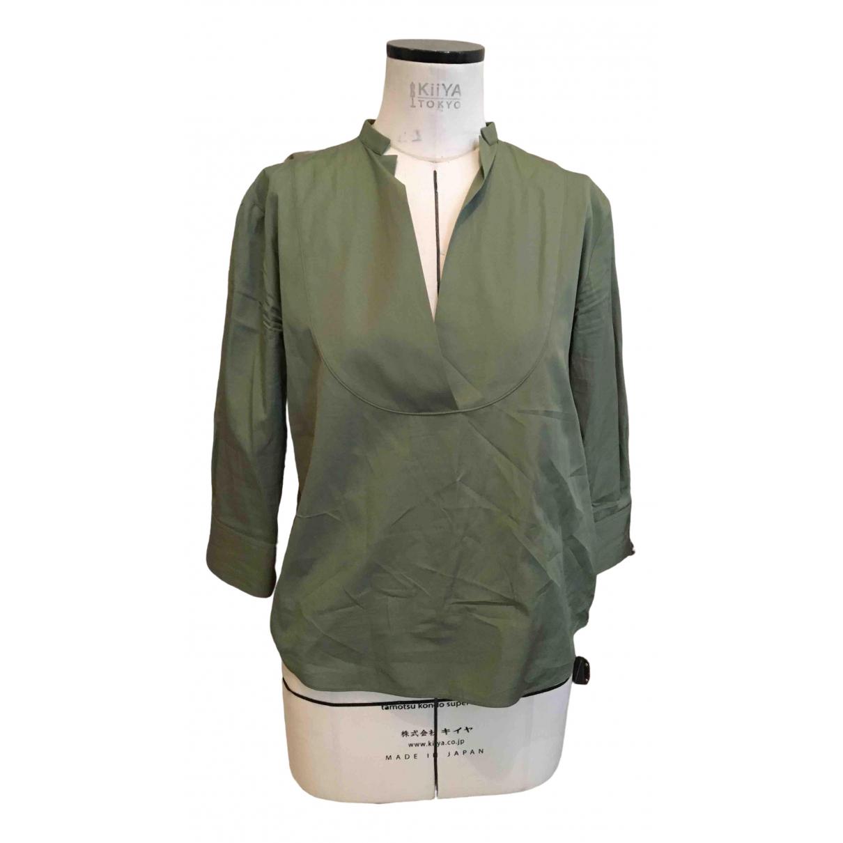 Jil Sander - Top   pour femme en coton - vert
